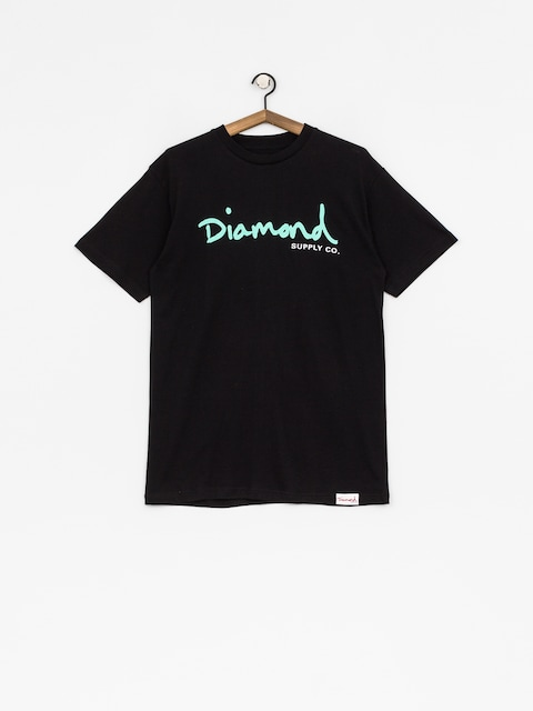T-shirt Diamond Supply Co. Og Script (black)