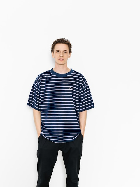 T-shirt Polar Skate Striped Terry Surf (navy/violet)