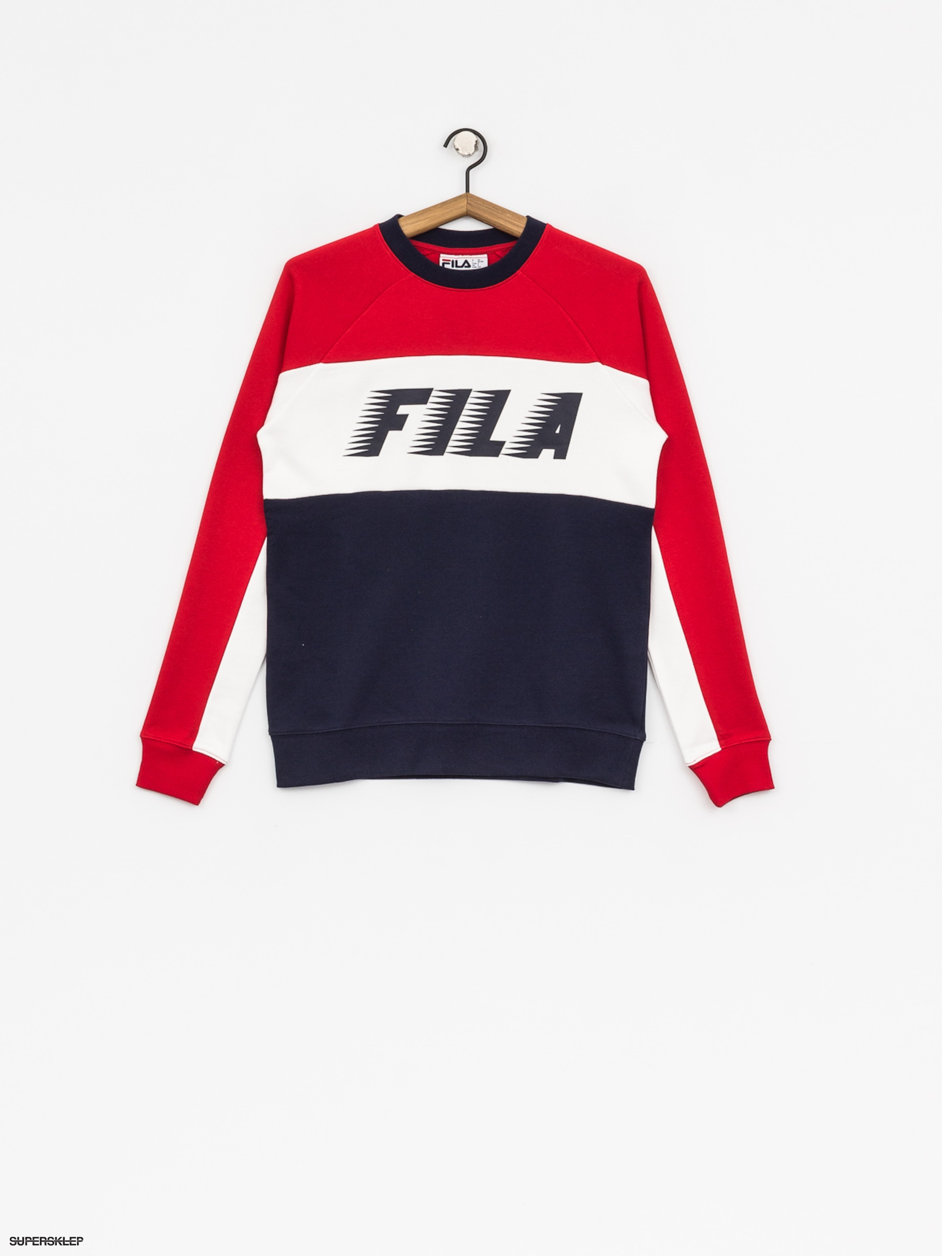 Bluza Fila Layton Colour Block Wmn (peacoat/red/white)