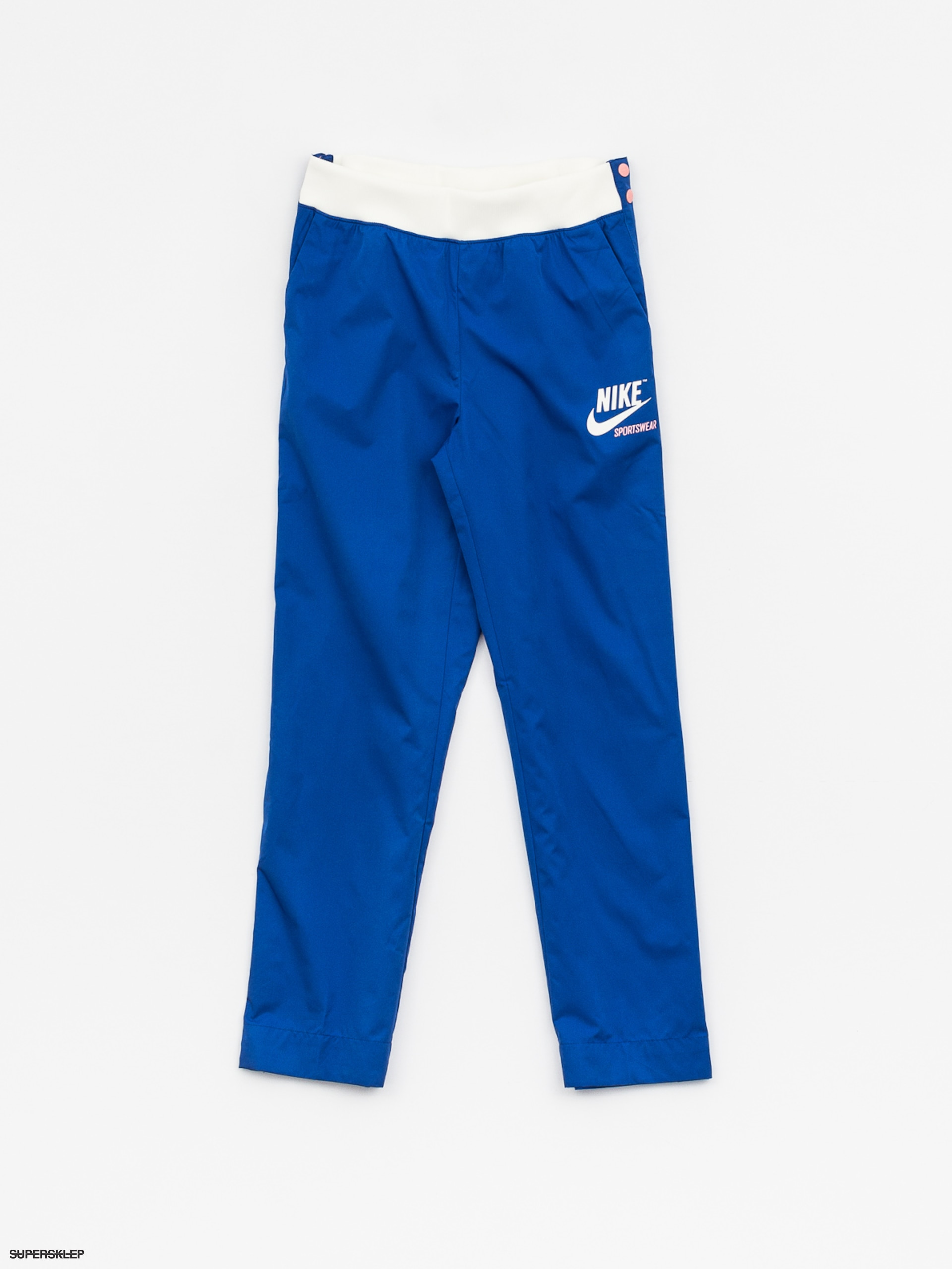 Spodnie Nike Snap Archive Wmn (game royal/bleached coral/bleached coral)