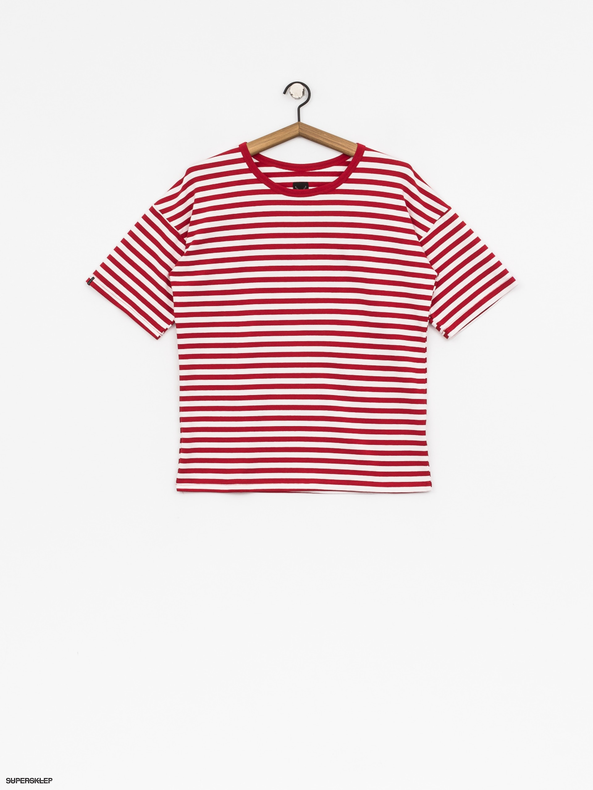 T-shirt The Hive Oversized Stripes Wmn (red/white)