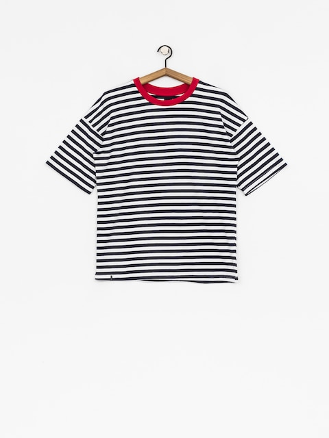 T-shirt The Hive Oversized Stripes Wmn (red/navy/white)