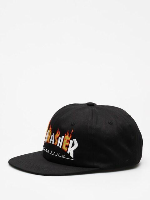 Czapka z daszkiem Thrasher Flame Mag ZD (black)