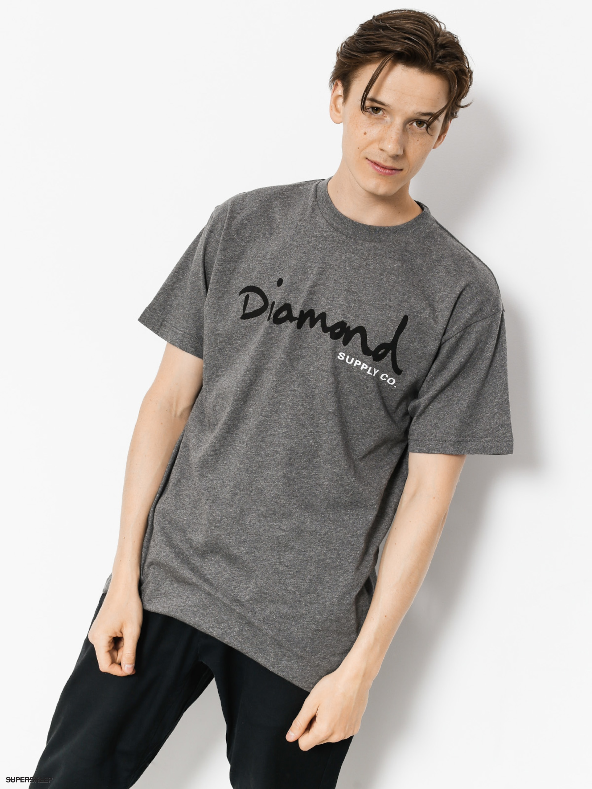 T-shirt Diamond Supply Co. Og Script (heather grey)