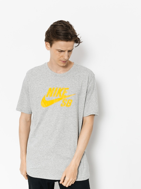 T-shirt Nike SB Sb Logo (dk grey heather/laser orange)