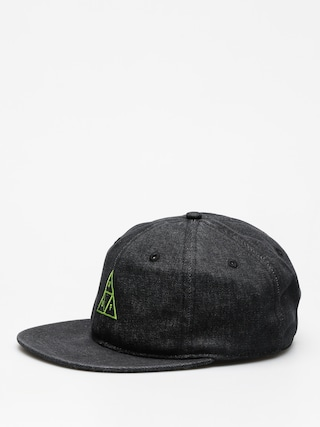 Czapka z daszkiem HUF Formless Denim Triple Triangle ZD (black)