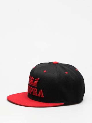 Czapka z daszkiem Supra Above Snap ZD (black/red)
