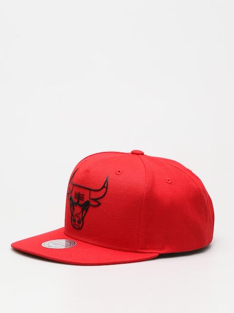 Czapka z daszkiem Mitchell & Ness Raised Perimeter Chicago Bulls ZD (red)