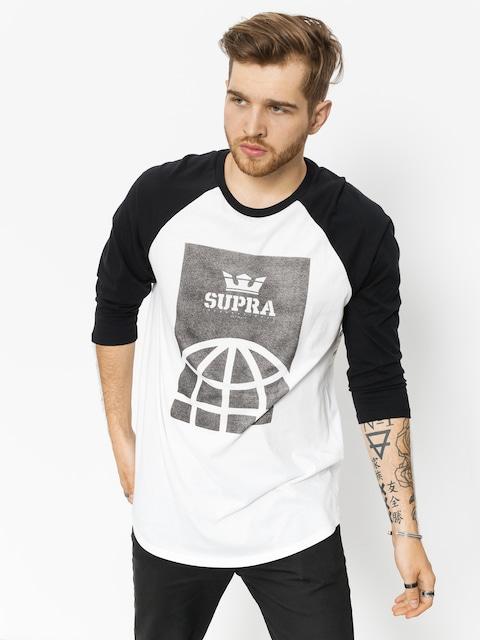 Koszulka Supra Glb Prm 3/4 Rag Crw (white/black)