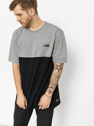 T-shirt Supra Block Crew (heather grey/black)
