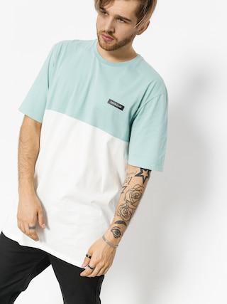 T-shirt Supra Block Crew (aqua/white)