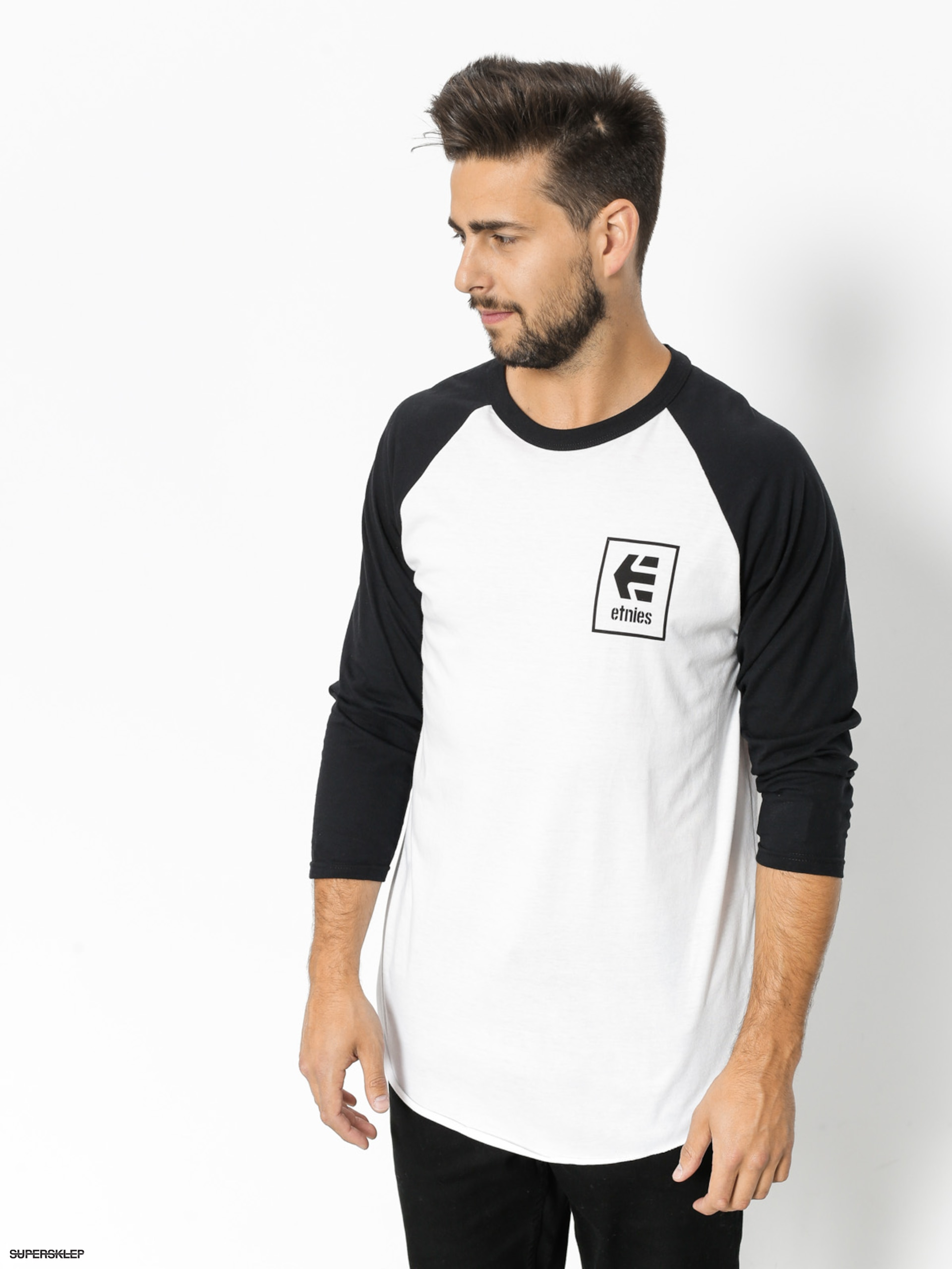T-shirt Etnies Stack Box Raglan (black/white)
