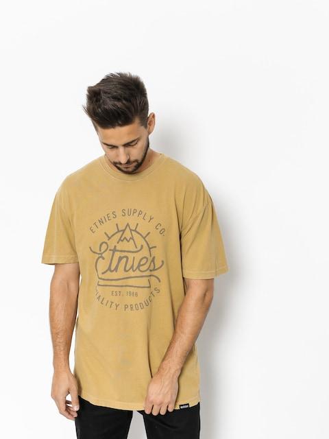 T-shirt Etnies Epic Peak (mustard)