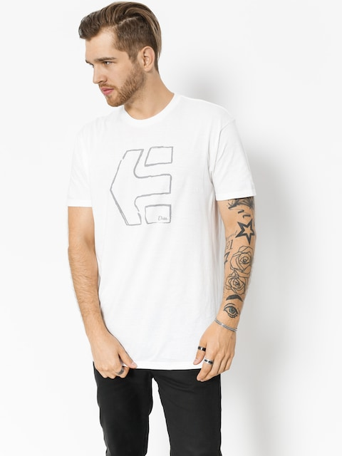 T-shirt Etnies Sketch Outline (white)