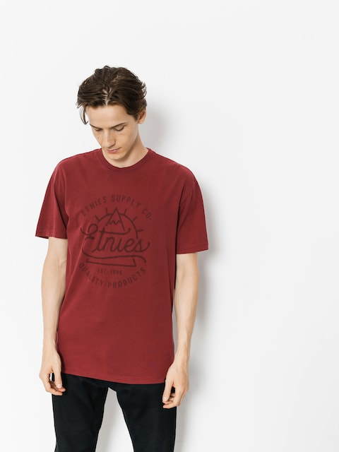 T-shirt Etnies Epic Peak (burgundy)