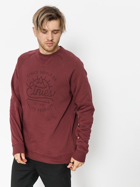 Bluza Etnies Creep Crew (burgundy)