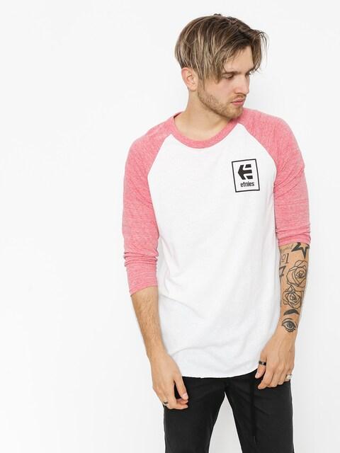Koszulka Etnies Stack Box Raglan (red/white)