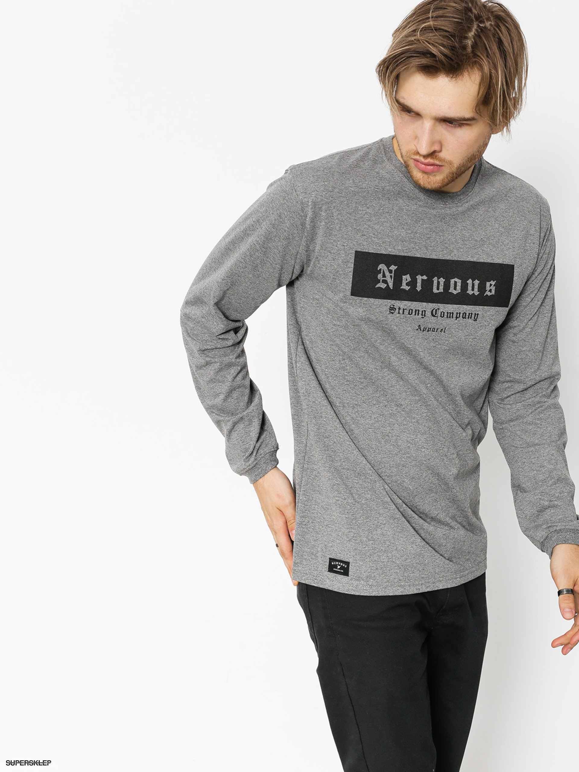 Longsleeve Nervous Ghotic Box (grey)