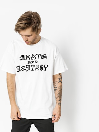 T-shirt Thrasher Skate And Destroy (white)