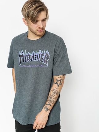 T-shirt Thrasher Flame Logo (dark heather)