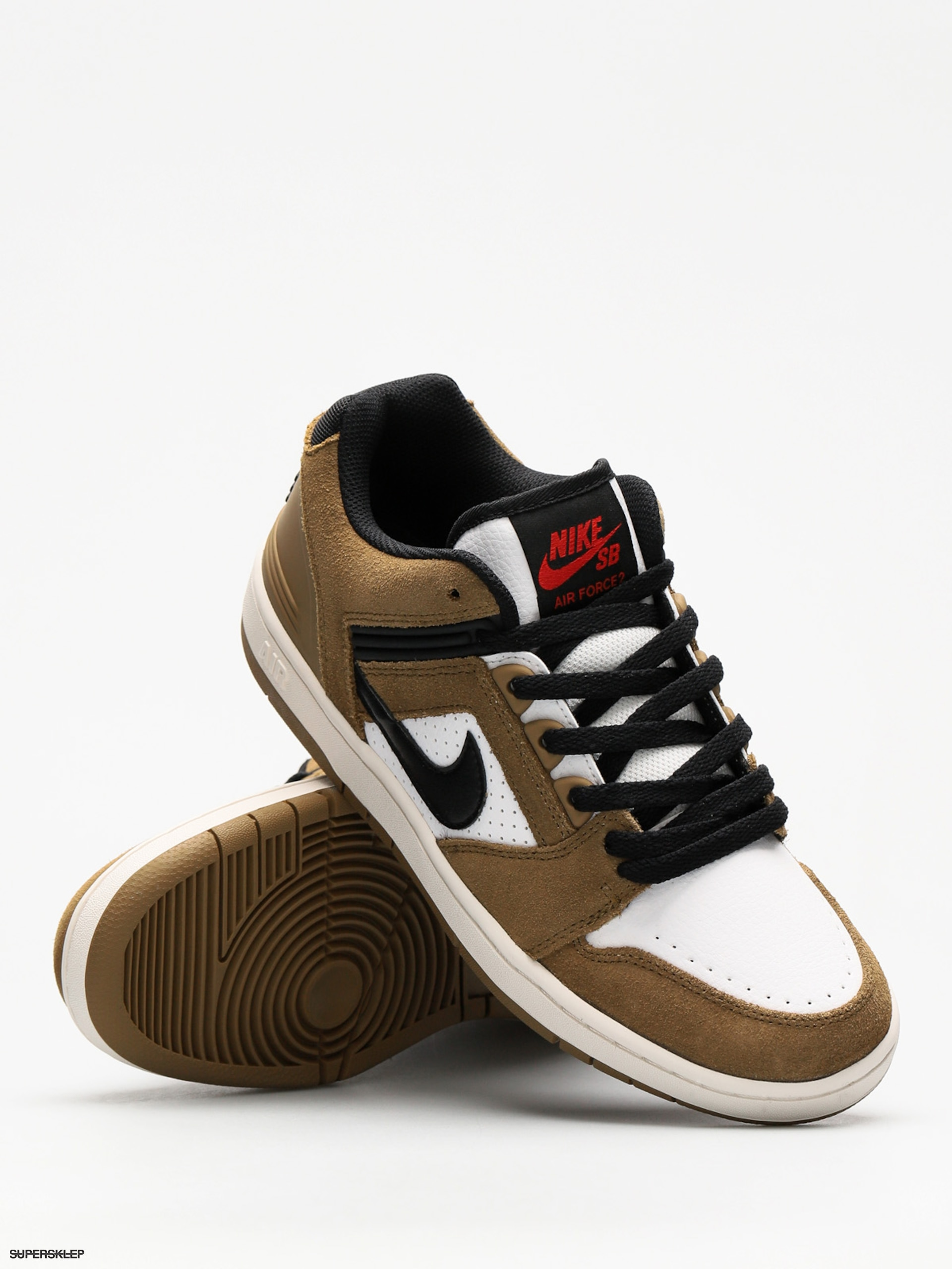 buty nike sb Nike SB Air Force II Low lichen brownblack white phantom