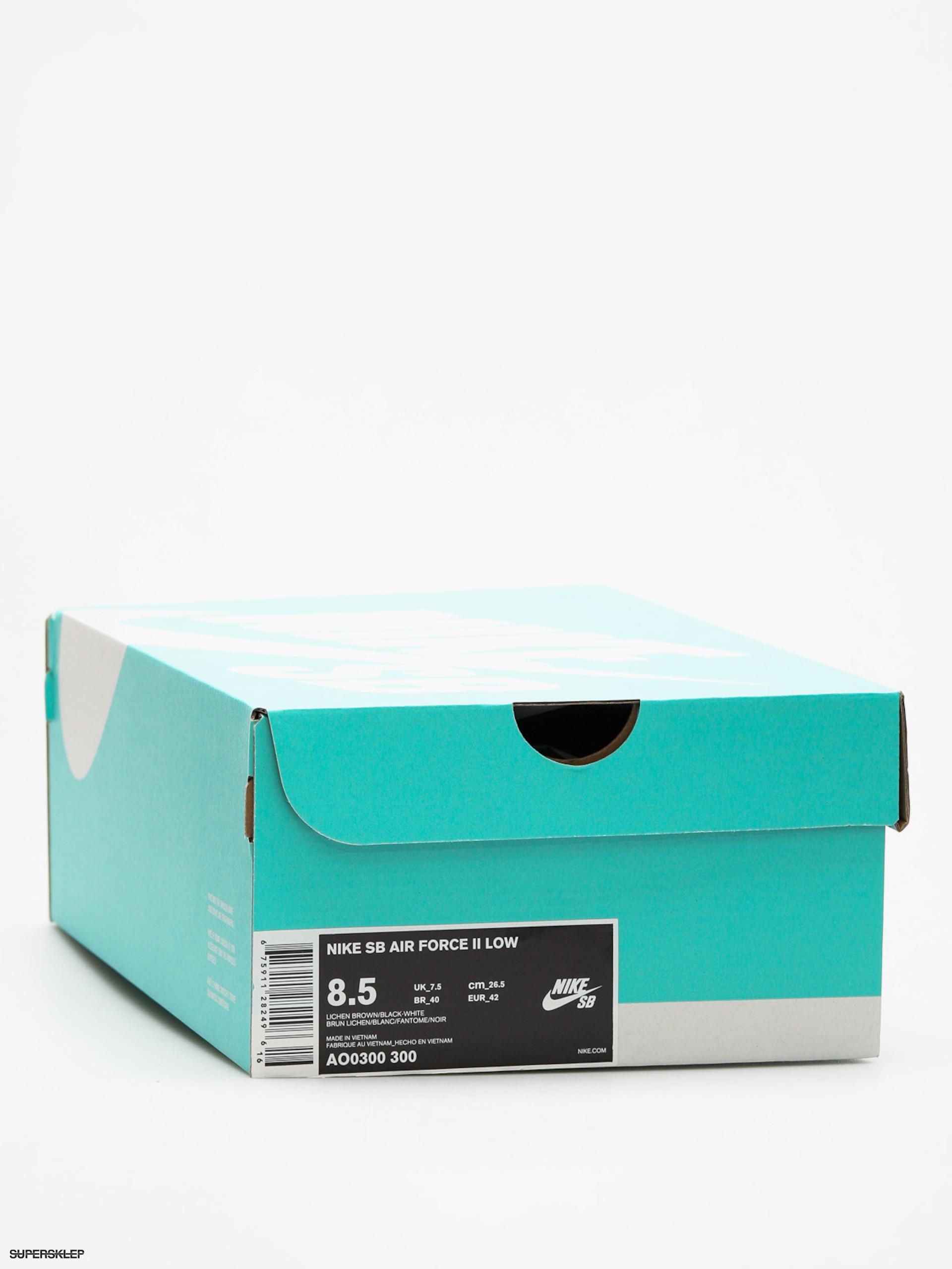 Buty Nike SB Air Force II Low (lichen brownblack white phantom)