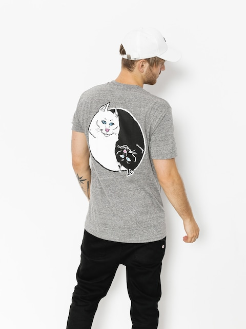 T-shirt RipNDip Nermal Yang (ash grey)