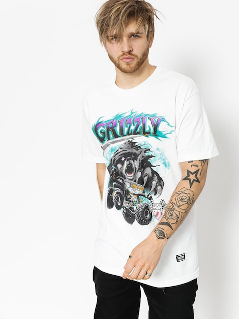 T-shirt Grizzly Griptape Cave Digger (white)