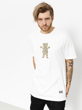 T-shirt Grizzly Griptape Roll Up Bear (white)