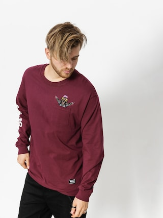 Longsleeve Grizzly Griptape Carnivore (burgundy)