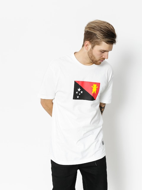 T-shirt Grizzly Griptape Blvck Scale Grizzly Flag (white)