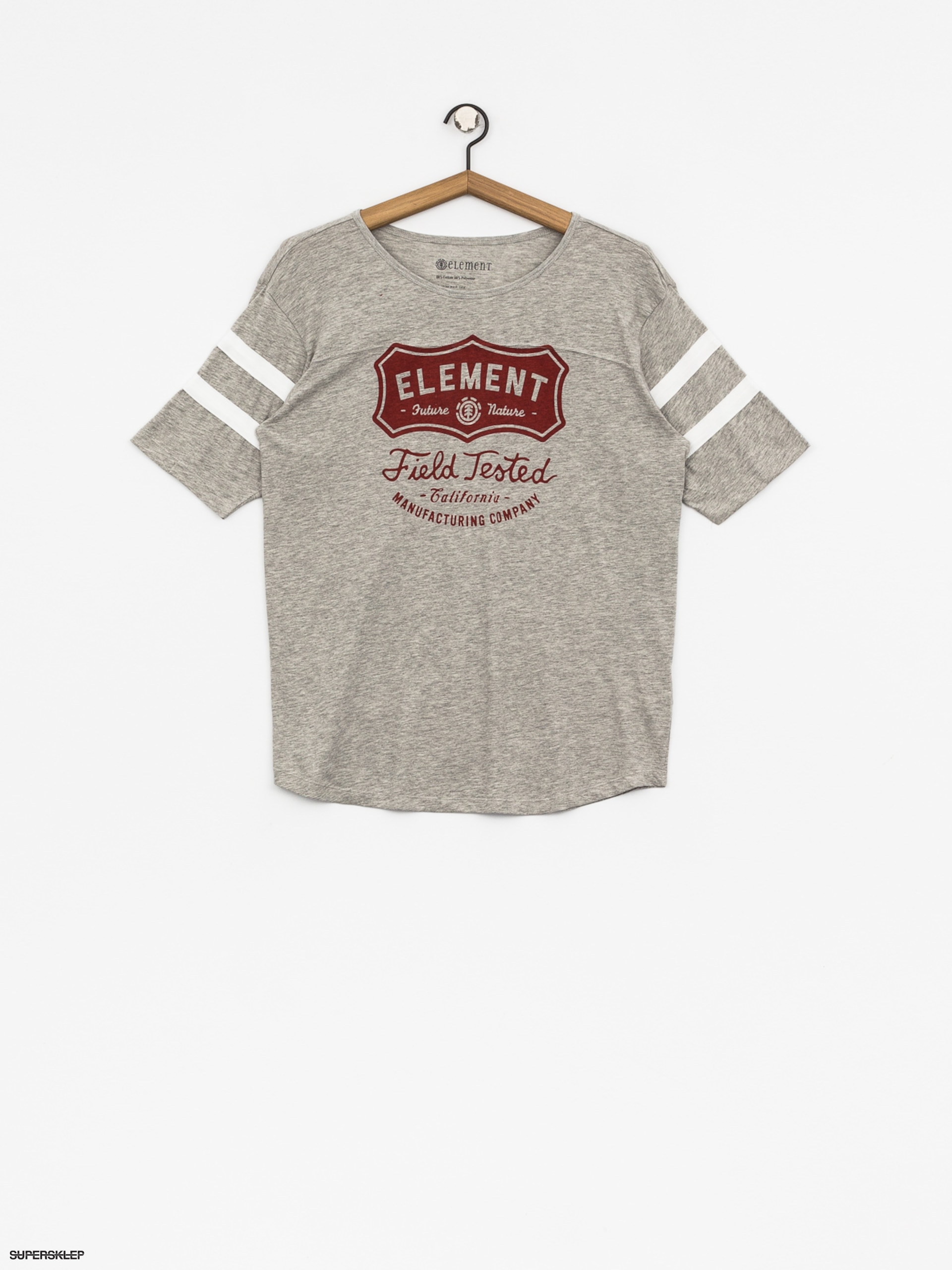 T-shirt Element Test Fb Wmn (heather grey)