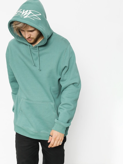 Bluza z kapturem Stussy Smooth Stock HD (sage)