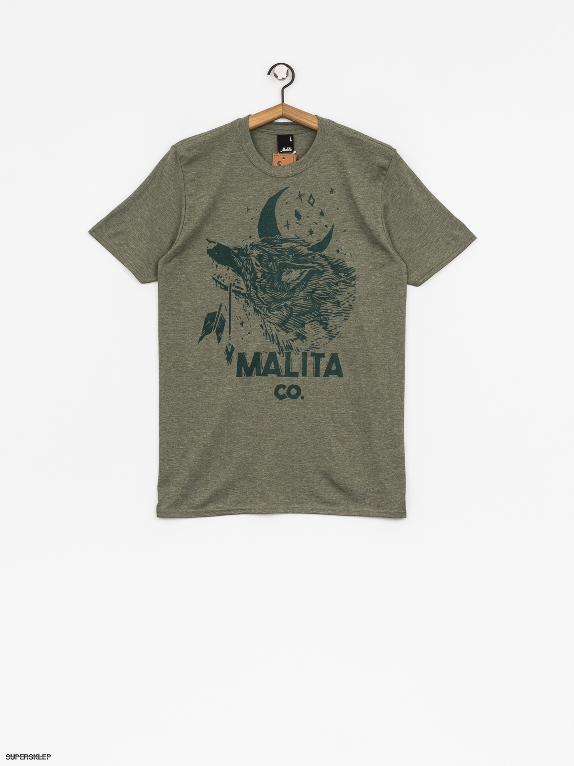 T-shirt Malita Wolf (heather green)