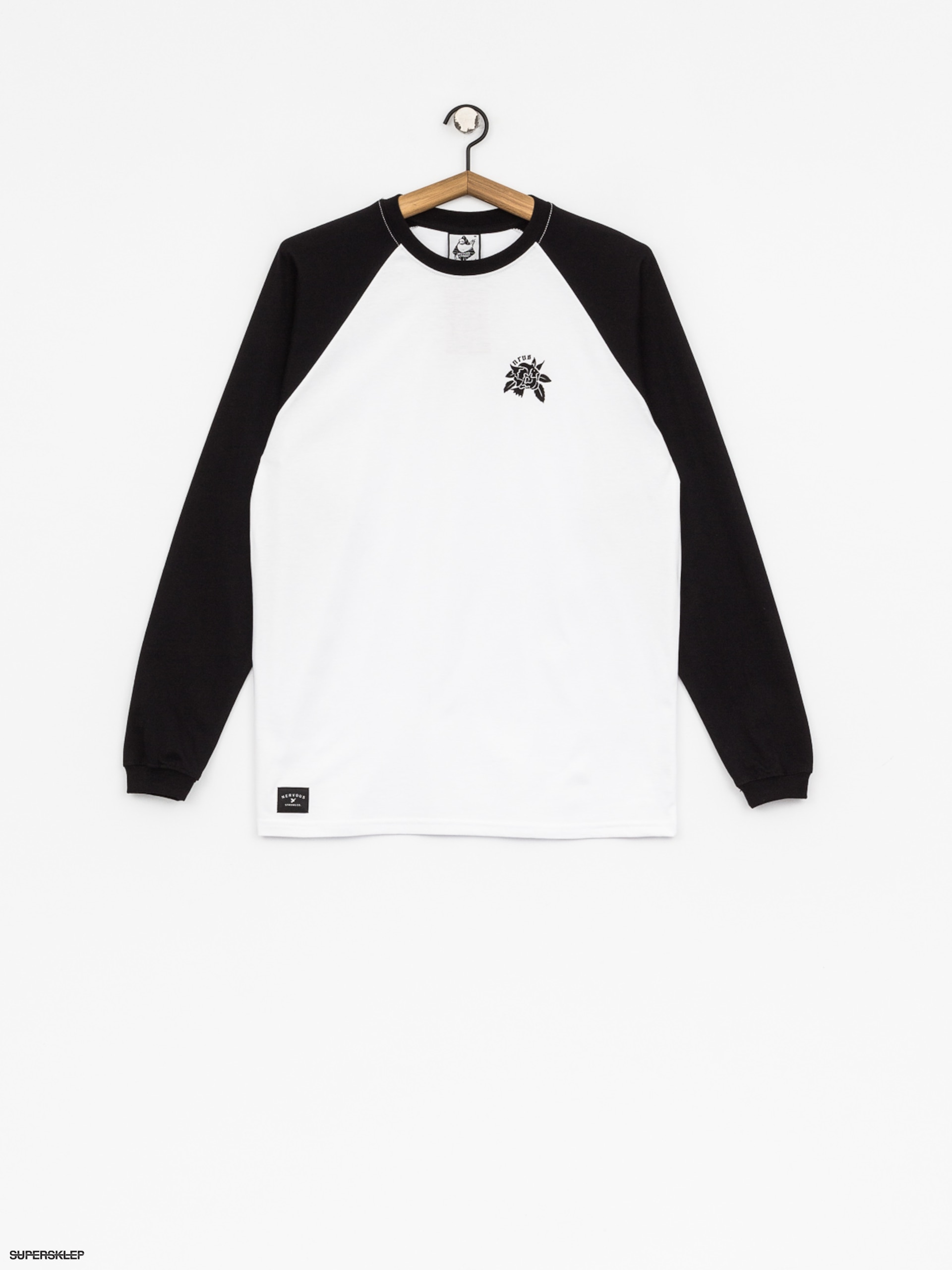 Longsleeve Nervous Rose (white/black)