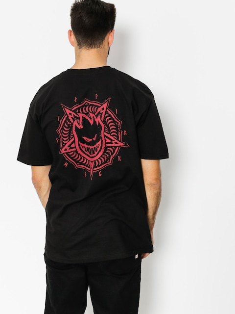 T-shirt Spitfire Pentaburn (black/red)