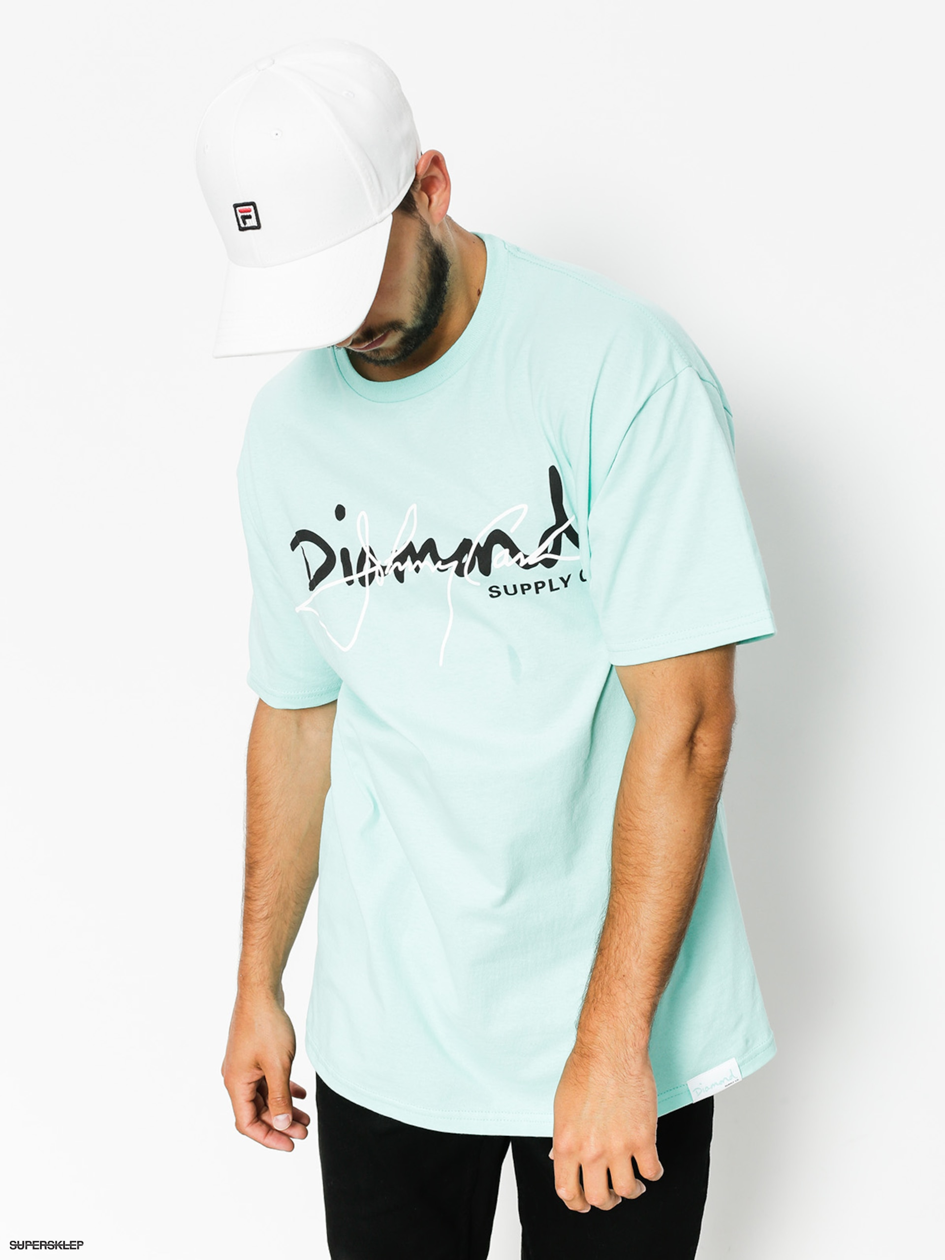 T-shirt Diamond Supply Co. Cash Script (diamond blue)