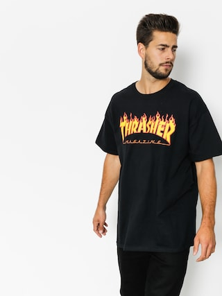 T-shirt Thrasher Flame Logo (black)