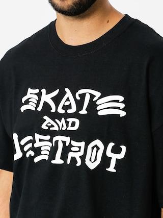 T-shirt Thrasher Skate And Destroy (black)