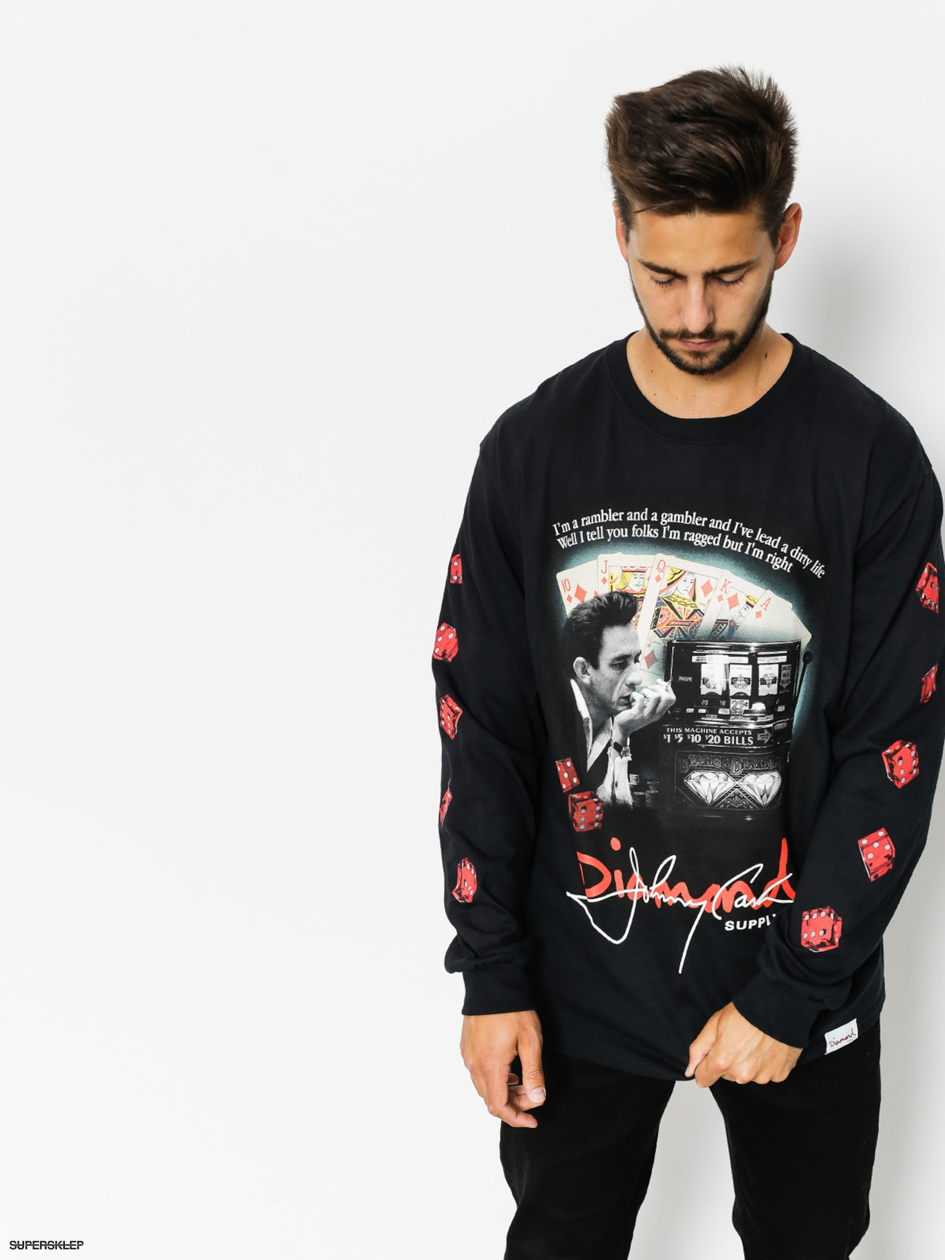 Longsleeve Diamond Supply Co. Ragged (black)
