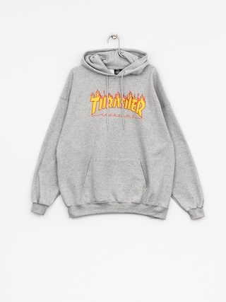 Bluza z kapturem Thrasher Flame HD (grey)