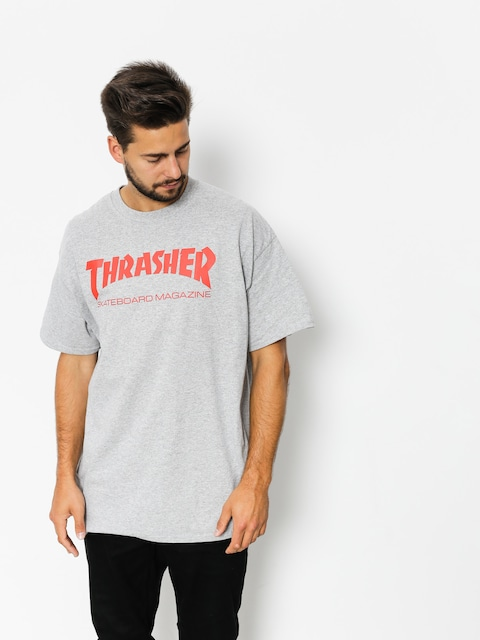 T-shirt Thrasher Skate Mag (grey/red)