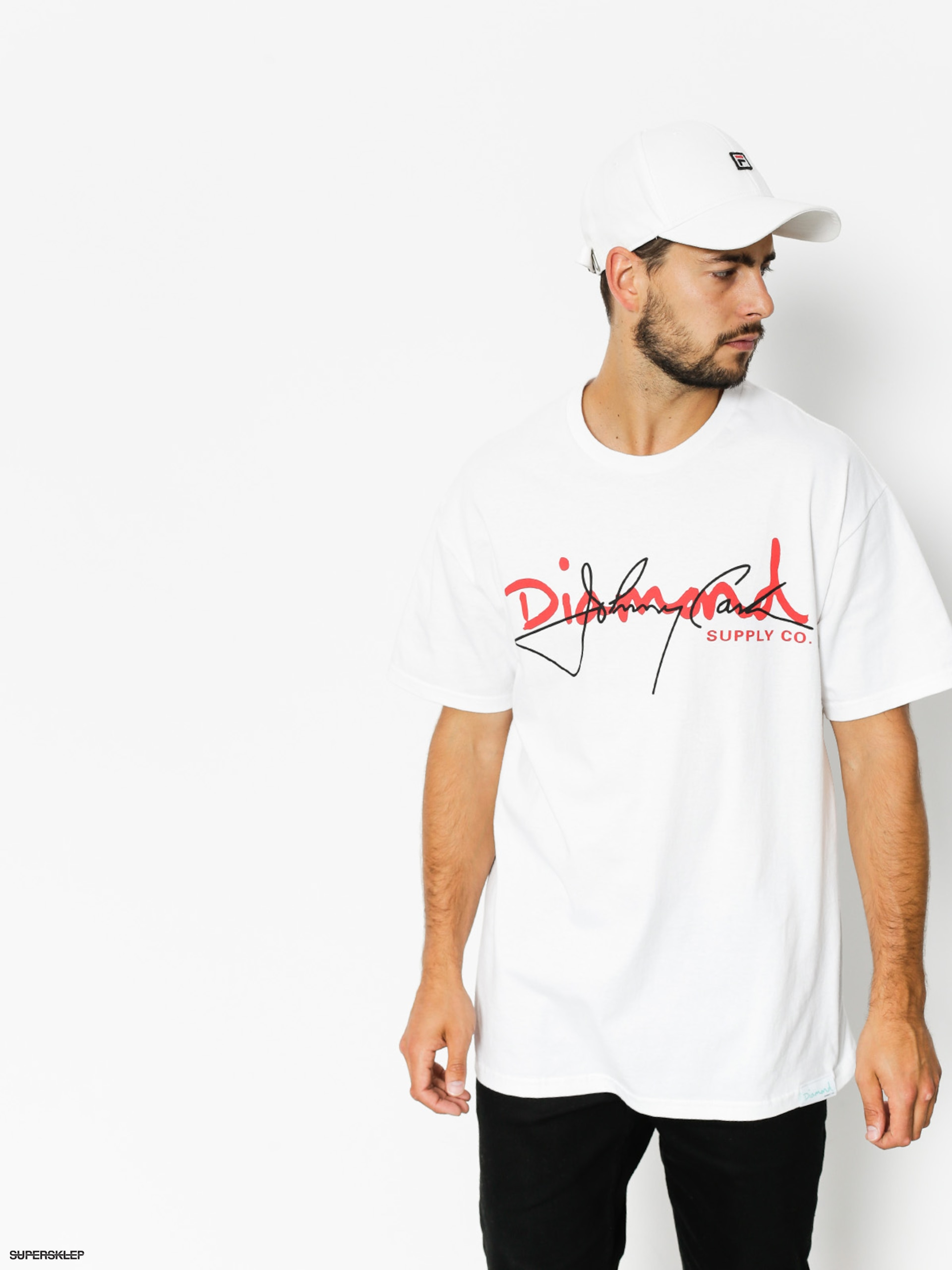 T-shirt Diamond Supply Co. Cash Script (white)