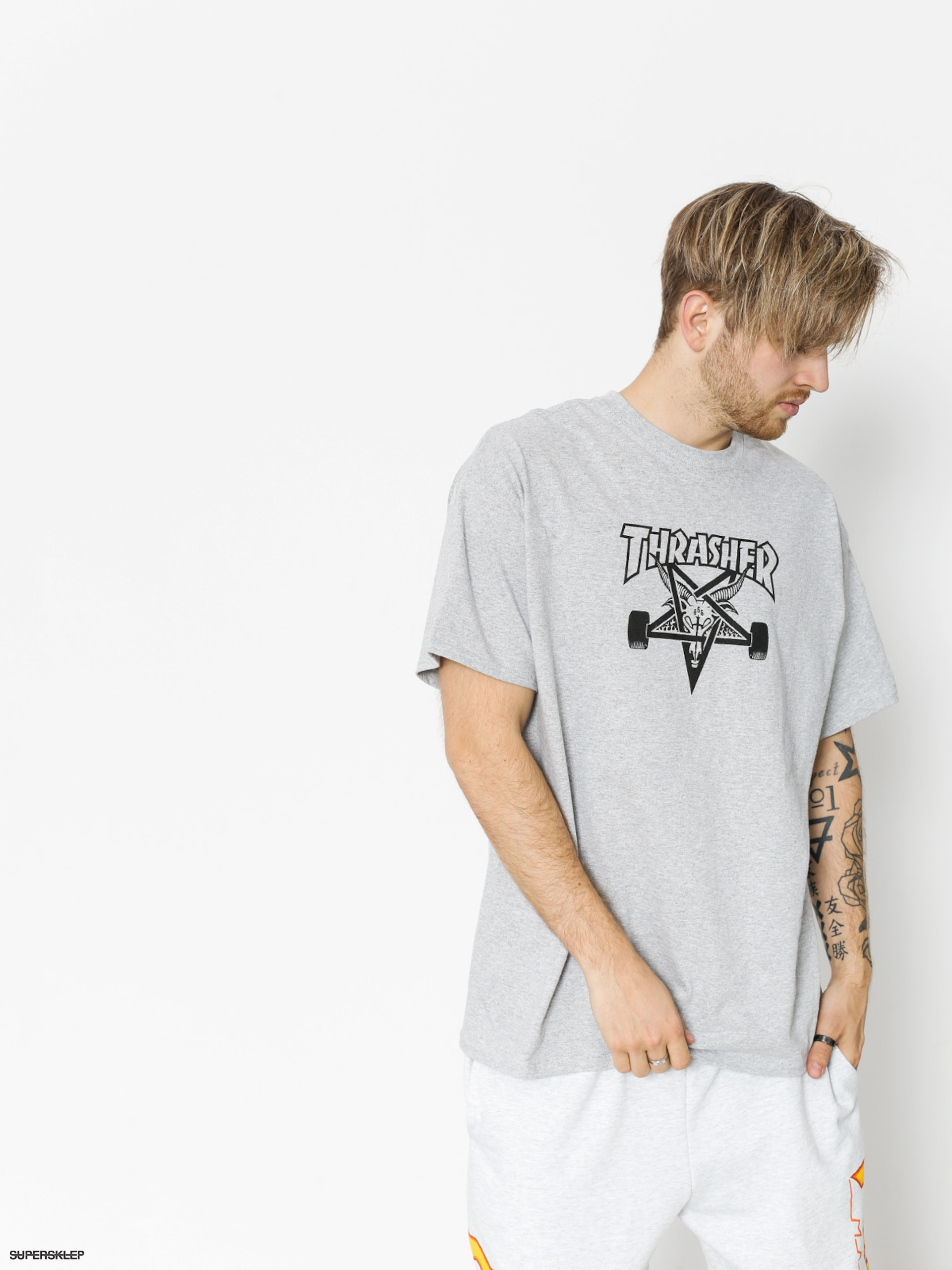 98a5349b38e4 T-shirt Thrasher Skategoat (grey)