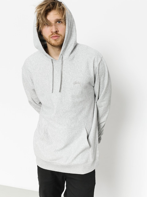 Bluza z kapturem Stussy Stock Terry HD (grey heather)
