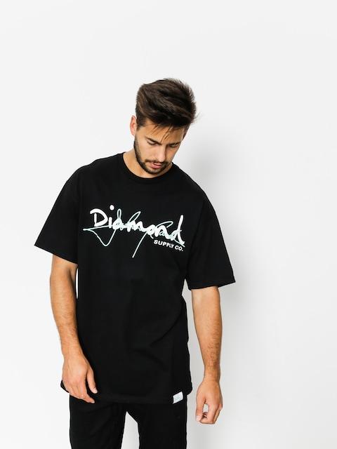 T-shirt Diamond Supply Co. Cash Script (black)