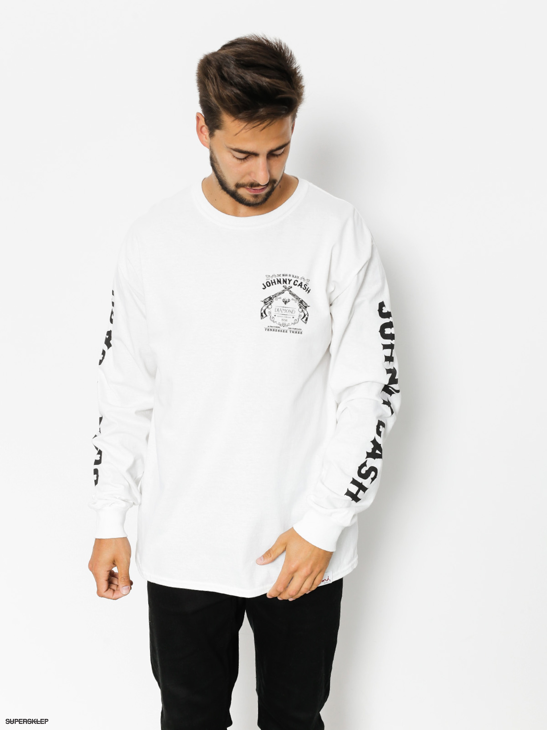Longsleeve Diamond Supply Co. Tennesee Three (white)