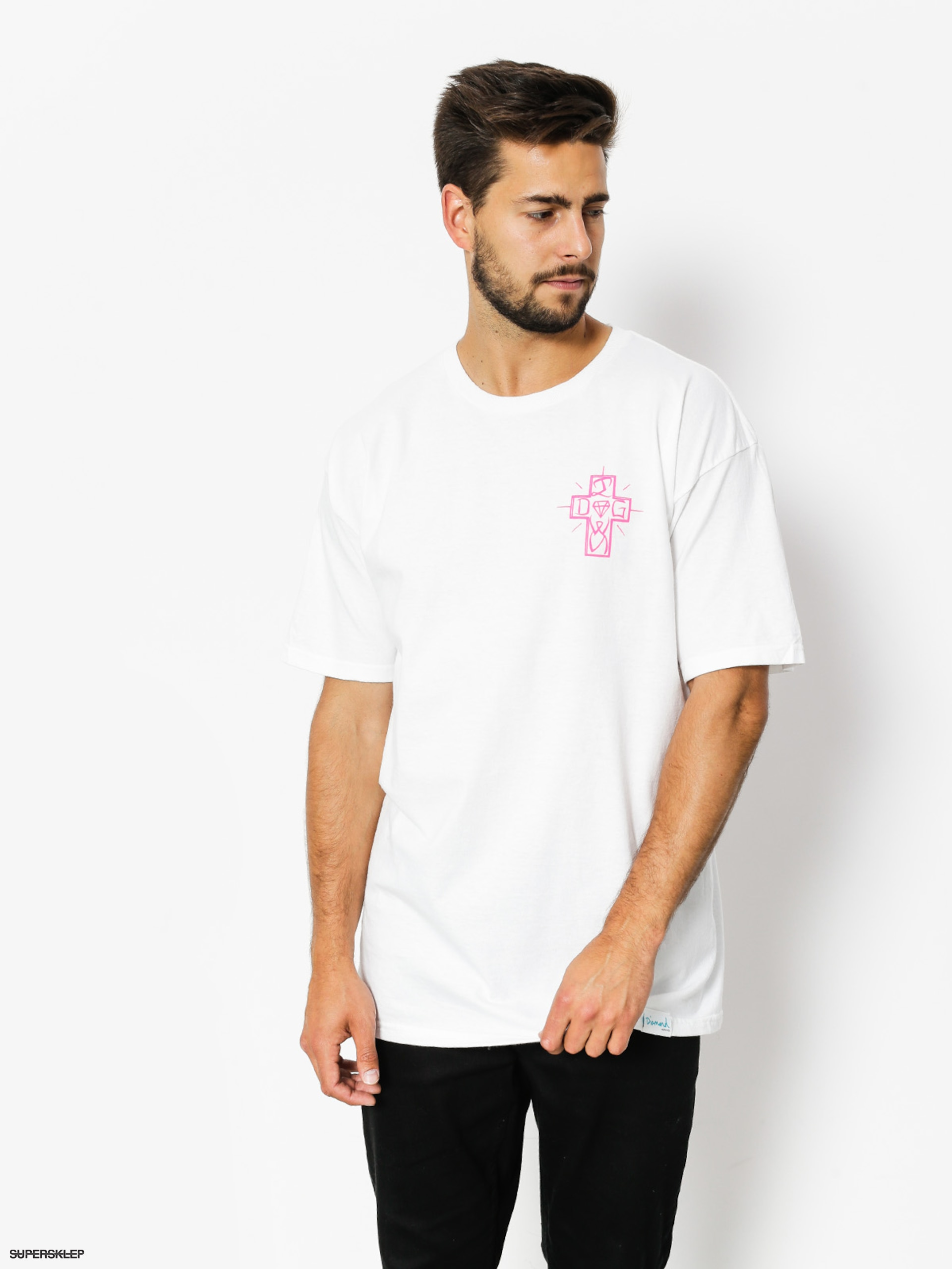 T-shirt Diamond Supply Co. Dogtown (white)