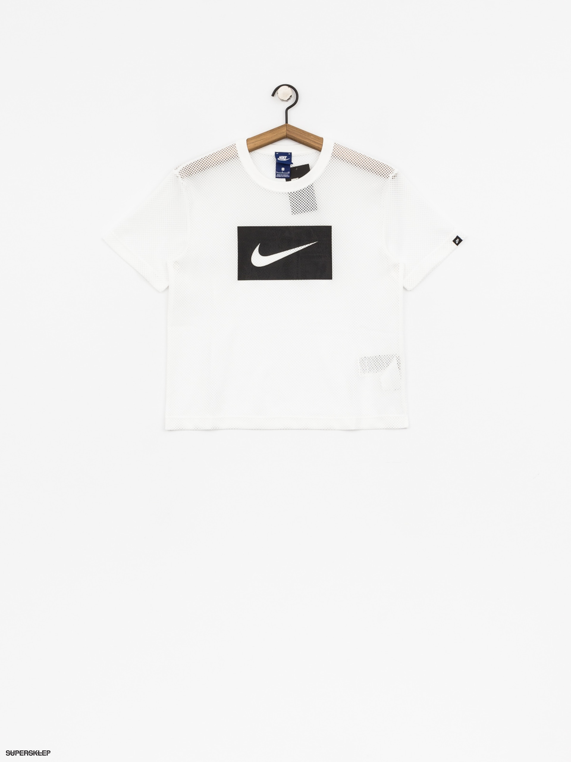 T-shirt Nike Top Swsh Mesh Wmn (white/black)