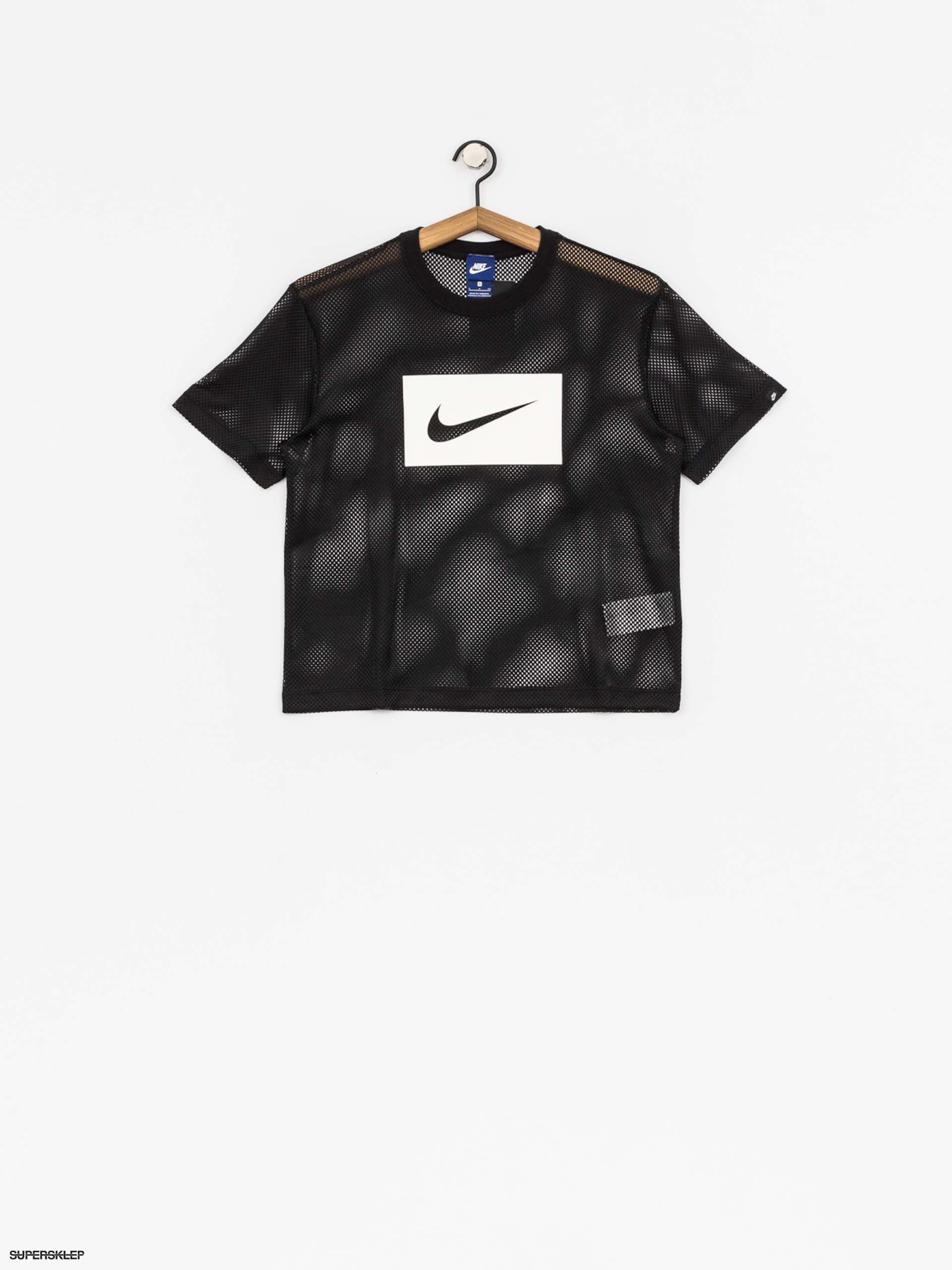 T-shirt Nike Top Swsh Mesh Wmn (black/white)